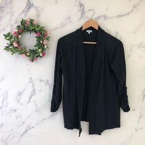 Splendid Open Front Cardigan in Black